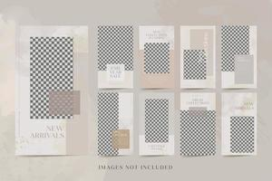 Social Media stories post bundle kit template for fashion products Premium Vector