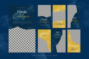 Banners de moda para conjunto de plantillas de publicidad en redes sociales.