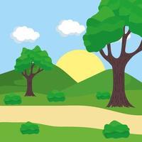 Outdoor landscape scene vector