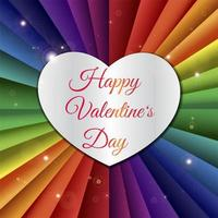Happy Valentine Day laser cut heart illustration vector