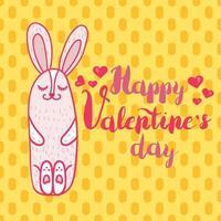 Happy Valentines Day cartoon illustration vector