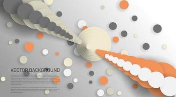 Modern abstract circle vector background