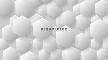 Hexagon abstract white vector background