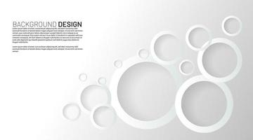 White circle rings with overlapping shadows background