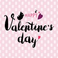 Happy Valentines Day hand drawn black calligraphy vector