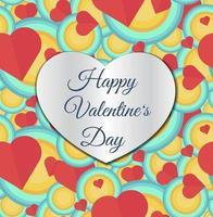 Happy Valentines Day laser cut design template vector
