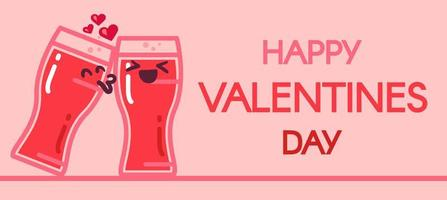 Happy Valentines Day vector banner template
