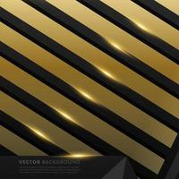 Gray black polygon with gold light effect background vector