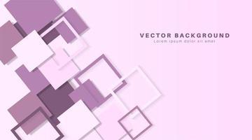 3d square purple paper background