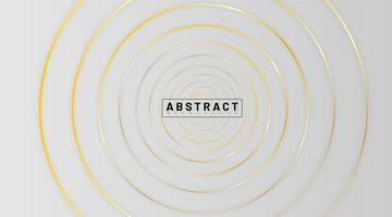 Diseño de concepto elegante con fondo dorado de línea circular