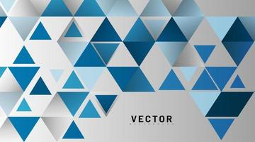 Blue triangle pattern abstract background vector