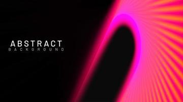 Bright neon pink and orange gradient curve background vector