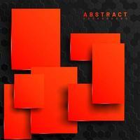 Fondo de cuadrados naranja geométrico abstracto 3d vector