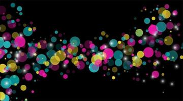 abstract vector background. Circle Dot Unique color pastel isolated black Background