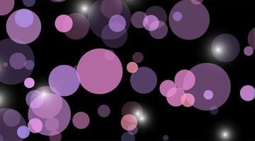 fondo abstracto del vector. círculo azul punto único fondo negro aislado