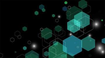 abstract vector background. Concept shape hexagon green.