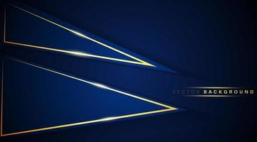 triángulo superpuesto forma azul oscuro con fondo de efecto de luz dorada