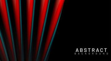Red and black 3d fan shapes background vector