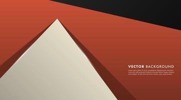Overlapping geometric shapes background vector
