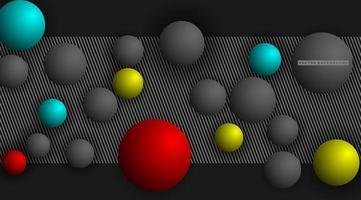 3D Sphere Pattern Background vector