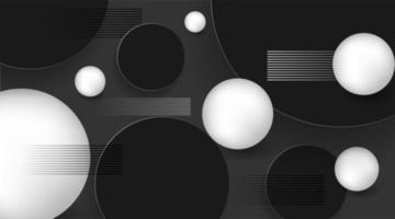 3d ball background with circles and lines. Modern design style vector illustration