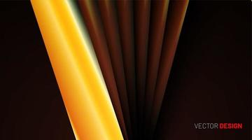 Yellow and orange abstract shapes background vector