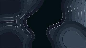 Diseño de fondo de vector abstracto ondulado fluido con líneas brillantes. ilustración de textura de profundidad