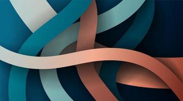 Diseño vectorial de líneas o cintas superpuestas onduladas e irregulares.