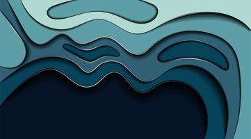Diseño de fondo de vector abstracto con concepto de textura de onda. Ilustración de profundidad de fluido.