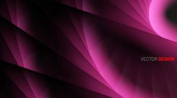 3d bright pink curved shapes background vector