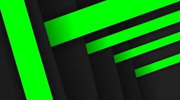 Diseño de fondo de vector abstracto con rectángulos apilados con combinación de color gris y verde