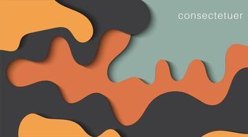 Plantillas web abstractas con formas onduladas recortadas de papel en capas con sombras realistas. ilustración de fondo de vector de diseño