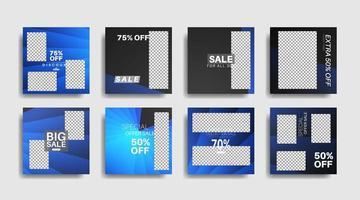 Banner de web cuadrado de promoción moderna para ilustración de diseño de vector de redes sociales