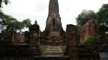 Ayutthaya historischer Park in Thailand video