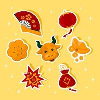 Chinese New Year Festival Sticker vector