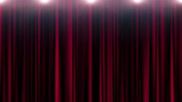 Red curtain theater with lights looping background