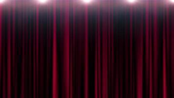 teatro tenda rossa con sfondo di luci in loop