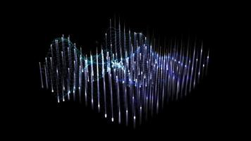 Sound wave 3D diagram technology looping background video