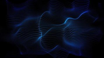 Blue wavy dot surface animation technology looping background