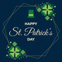 Happy St. Patrick's Day Illustration with Flat Style vector