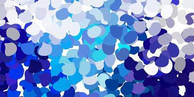Light pink, blue vector background with random forms.