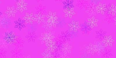 Light pink, blue vector natural layout with flowers.