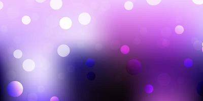 textura de vector púrpura claro con formas de memphis.