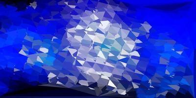 Dark pink, blue vector polygonal backdrop.