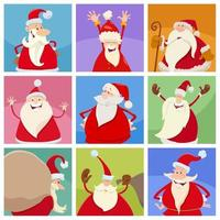 holiday design with funny Christmas characters. vector