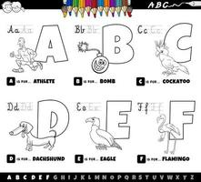 educational alphabet letters coloring book for children vector