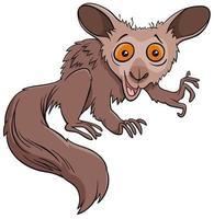 divertido personaje de animal salvaje de dibujos animados aye-aye vector