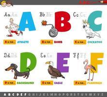 educational cartoon alphabet letters for kids vector