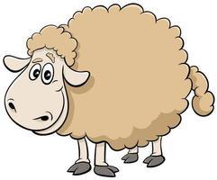 personaje de animal de granja de ovejas de dibujos animados vector