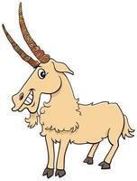 personaje de cómic de dibujos animados de animales de granja de cabra vector